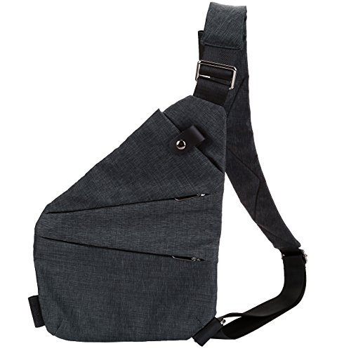 Faleto Herren Reise Wandern Outdoor Sports Schultertasche Sling Bag Umhängetasche Brusttasche Crossbody Bag (rechte Schulter)