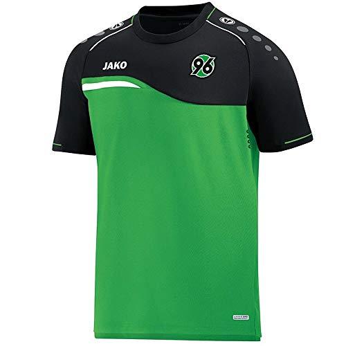 JAKO Fußball Hannover 96 T-Shirt Competition 2.0 Kinder Training Trikot grün schwarz Gr 140