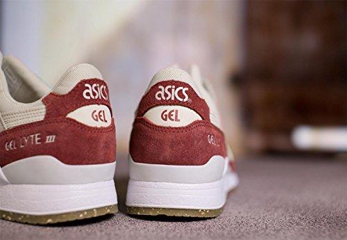 Asics Tiger Gel Lyte III Scarpa beige rosso vinaccia