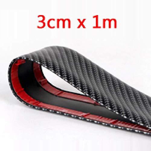 APcjerp Car Styling Carbon-Faser-Leisten-Streifen Auto Zierleisten Türschwellerschutz, for Almera N16 g15 (Color : 3cm X 1meters)