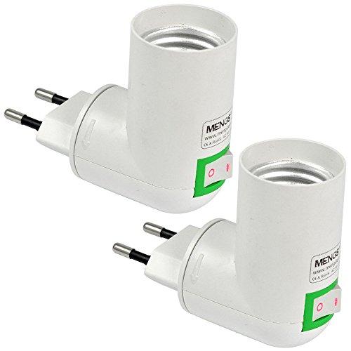 2x MENGS Qualität PP auf E27 Lampenfassung Konverter-Adapter Mit Hohe Temperaturbeständigkeit ABS-Material