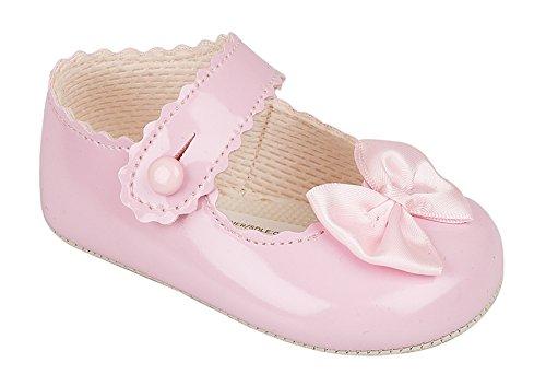ht Baypod Weich Synthetik Leder Stil Baby Mädchen Creme / Elfenbein Weiß Rosa Besondere Anlässe Taufe Hochzeit Party Schuhe (12-18 Monate, Rosa) (Mädchen Anlass Schuhe)