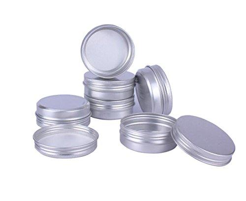 12 STÜCKE 60 ML / Gramm 2 unze Silber Aluminium Kosmetik Probe Verpackung Dosen Fällen mit Schraubdeckel Runde Vorratsglas Behälter für Lippenbalsam