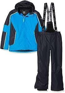 CMP Feel Warm Flat 3.000, Set Giacca E Pantaloni Imbottiti Bambini e Ragazzi, Cyano, 116