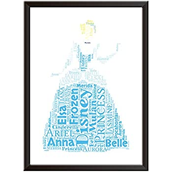 Frame Not Included Tangled Inspired Watercolour Poster Print gifts Alternative TV/Movie Posters in Various Sizes
