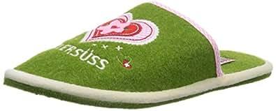 Adelheid Zuckersüss Filzpantoffel, Damen Pantoffeln, Grün (knospengrün 407), 36/37 EU