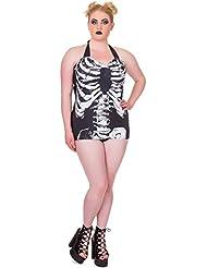 Banned Skeleton Bañador Negro