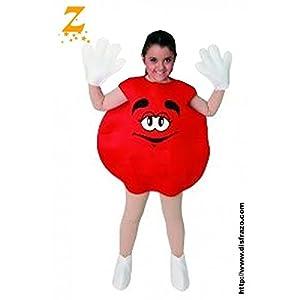 Fyasa 706089-t02-rojo Sweetie disfraz, tamaño mediano, color rojo