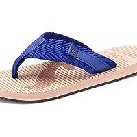 NTX/Herren Schuhe Outdoor/Casual Style Fashion rutschfeste Leinen/Stoff Flip Flops, Blau/Rot