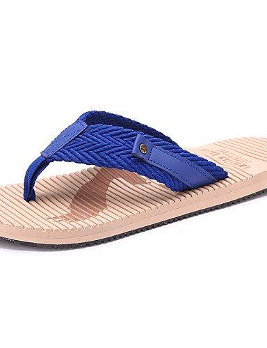 NTX/Herren Schuhe Outdoor/Casual Style Fashion rutschfeste Leinen/Stoff Flip Flops, Blau/Rot blue-us10 / eu43 / uk9 / cn44