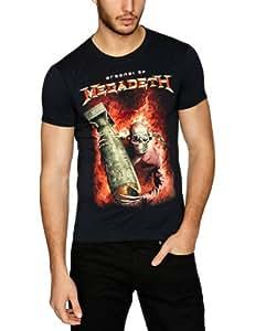 "T-Shirt Homme Noir Megadeth  ""Arsenal"" (Taille M)"