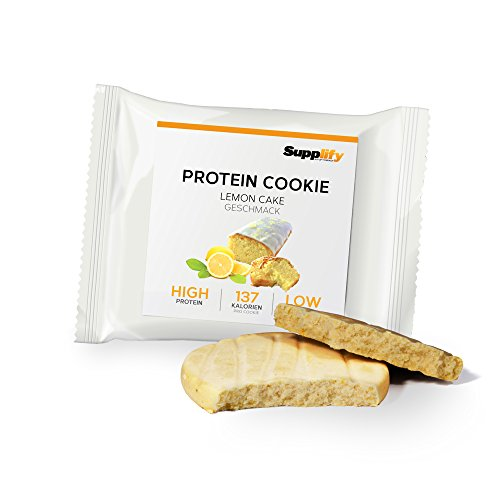 Protein Snack Cookie Protein Riegel Lemon Cake von Supplify mit Whey Pulver – Proteinriegel als Mahlzeitenersatz für Protein Shake – Energieriegel für Muskelaufbau und Abnehmen