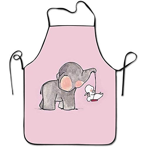 Drempad grembiule regolabile, colorful elephants easy care family woman kitchen apron overhand