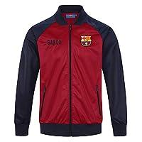 FC Barcelona Official Football Gift Mens Retro Track Top Jacket Red Medium