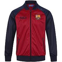 FCB FC Barcelona - Chaqueta de Entrenamiento Oficial - para Hombre - Estilo  Retro - Rojo c366f8374de