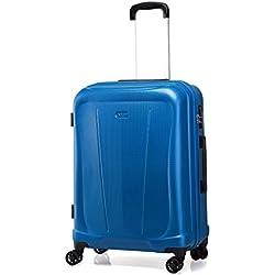 """Verage Hero Koffer Blau M-60cm(23.5"""") Trolley Suitcase Reisekoffer Marken-Qualitätsware Spitzenverarbeitung, Zahlenschloss 4 Doppelräder 360°rollen 68x43x29cm 70L erweiterbar auf 68x43x36cm 88L"""