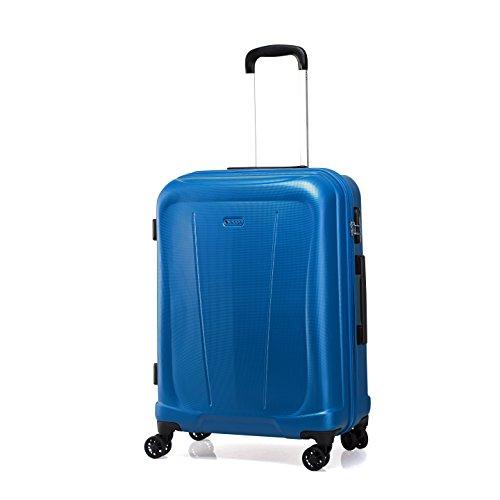 """Verage Hero Koffer Blau L-71cm(28\"""") Trolley Suitcase Reisekoffer Marken-Qualitätsware Spitzenverarbeitung, Zahlenschloss 4 Doppelräder 360°Rollen 78x48x31cm 100L erweiterbar auf 78x48x39cm 125L"""