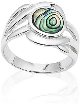 DTPsilver -Ring 925 Sterling Silber und Abalone Paua Muschel