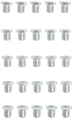 KS Tools Ölablassschraube Innen4kant 8 mm, m16 x 1,5 x 13 mm-Pack de 25 pièces, 430.2158
