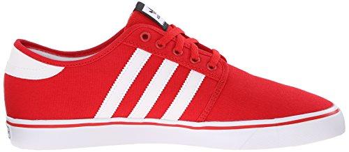Adidas Performance Seeley Skate scarpe, cenere grigia / bianco / nero, 4 M Us Scarlet/White/Black