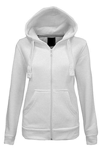 Kids Plain Hoodie Unisex Kapuzen-Reiverschluss-Reiverschluss Top Sweat Shirt Reiverschluss Kapuzen Sweater, Wei<U+FFFD>, 9-10 Jahre