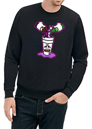 Certified Freak Purple Drank Sweater Black L