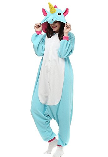 Kenmont Jumpsuit Tier Cartoon Einhorn Pyjama Overall Kostüm Sleepsuit Cosplay Animal Sleepwear für Kinder/Erwachsene (X-Large, ()