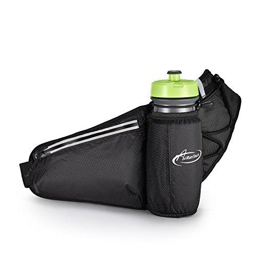 AiRunTech Gürteltasche Sport Wasserdichte Bauchtasche für Trinkflasche Handy iPhone 7/6s/6Plus Laufen Joggen Reisen Outdoor Trinkgürtel Hüfttasche Damen Herren (Fanny-packs Wasser-flaschen)