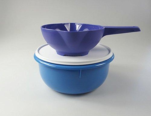 TUPPERWARE Küchenhelfer Sieb Goldregen lila, PENG 3,0 L blau Rührschüssel Teig
