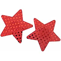 womens sexy red stars nipple pasties adhesive stickers stripper nipple covers