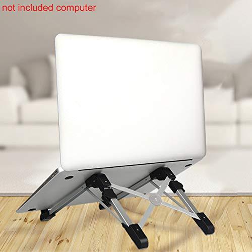 LYCOS3 Laptop/Handy-Ständer – faltbar, verstellbar, tragbar, Aluminiumlegierung, Kühlhalterung für Desktop/MacBook/Tablets/iPad/iPhone, Schwarz, Free Size