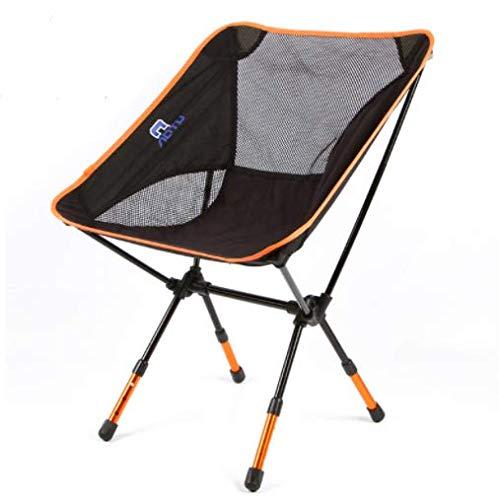 HoEOQeT Bold extérieur Ultra-léger Portable en Aluminium Chaise Pliante Lune Chaise de pêche Polyvalente Voiture