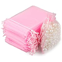 100 PCS Organza Gift Bags Wedding Jewelry Pouches 7 cm * 9 cm Perfect for Wedding, Christmas, Birthday, Anniversary