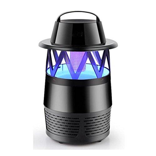 JIANFCR Anti-Moskito-Lampe USB-Startseite Strahlenfreie Moskito-Lampe Saug-Typ Elektrische Fliegenfänger Mückenschutz (Farbe : Schwarz)