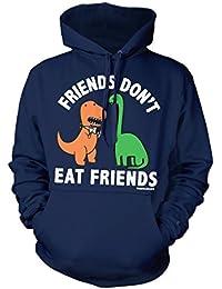 David and Goliath Eat Friends Unisex Hooded Sweatshirt