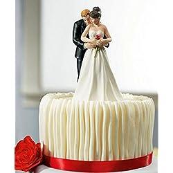 Boda favor y decoración---- novia y el novio de pareja figura para pastel de boda adornos para bodas supplies decoración para tarta para decoración de repostería (t07)