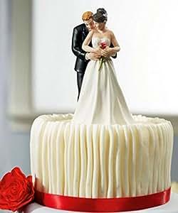 Faveur de mariage et de la décoration ---- mariée et le marié gâteau toppers Couple Figurine de mariage haut de forme de gâteau de mariage décoration fournitures gâteau Topper (T07)
