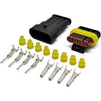 IMAGINE 10 juegos 1/2/3/4/5/6 pines Clavija Conector electrico Impermeable Conector Enchufe para coche camión automático barcos (4 Pines Amarillo Sello)