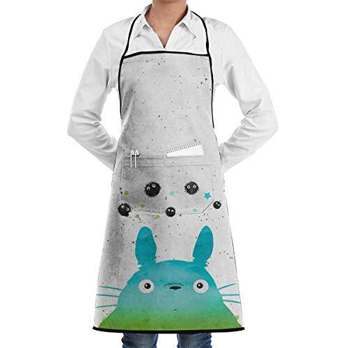 HarryShort Cartoon Totoro Delantal Chef