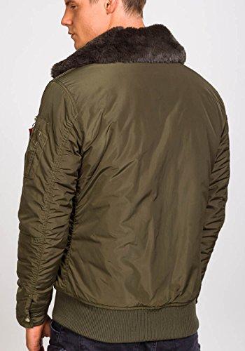 BOLF Herren Sweatjacke Jacke Winterjacke Herrenjacke Übergangsjacke Jacke MIX Khaki_3151