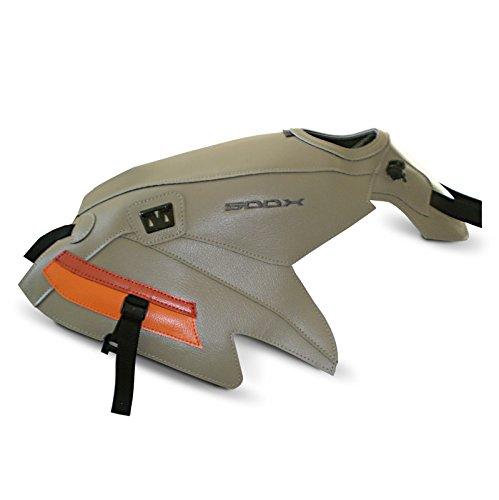 Tankschutzhaube Bagster Honda CB 500 X 15-16 sandfarbe/ permuttzinnoberrot