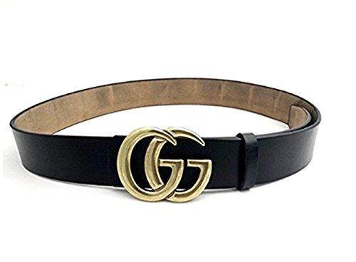 Black fashion buckle, occasional sexy GG woman belt