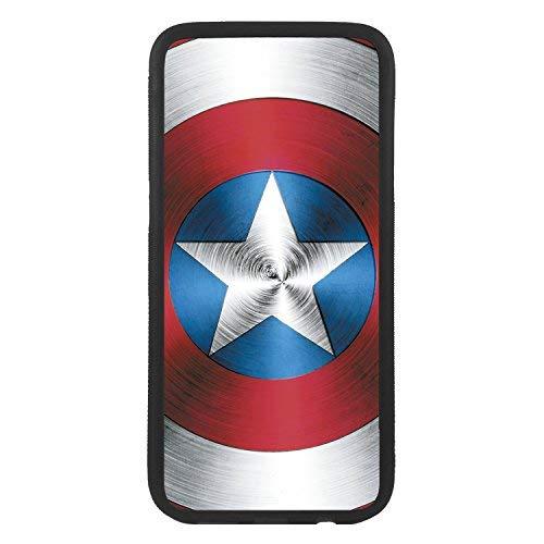 custom-cases Custodia Cover in TPU para Todos i cellulari con Progettazione di Scudo Capitan America - Samsung S7 Edge