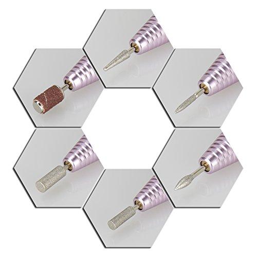 Profi Nagelfräser Maniküre Pediküre Negelpflege Elektrische Nagel Feile Metall Maschine PINK - 4