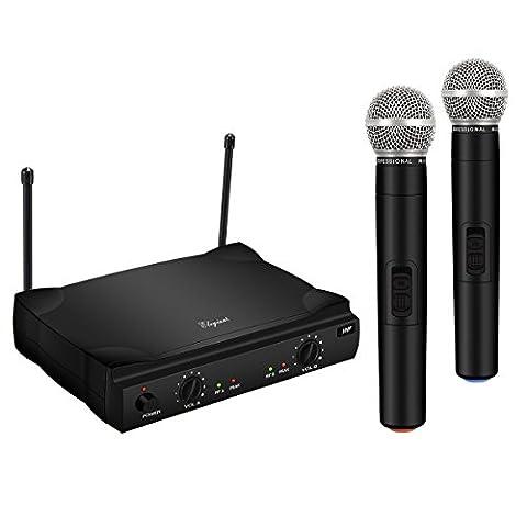 Microphone Sans Fil, ELEGIANT Micro Sans Fil x 2 +