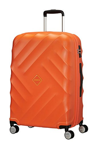 American Tourister Crystal Glow Spinner 66/24 TSA Valigia, Bright Orange, 64 ml, 66 cm