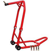 Cruizer caballete Alza Moto Delantero menos, canotto Dirección, 4ruedas 6pasadores), rojo