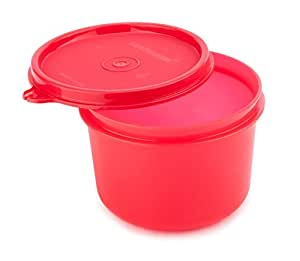 Signoraware Executive Round Big Plastic Container, 450ml, Deep Red