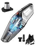 Homasy N7S- Aspiradora de Mano sin Cable, con filtro de acero inoxidable, Carga Rápida,6000PA, 14.8V, 600ml Aspiradora Hogar Recargable para la limpieza del polvo, el cabello de mascota, el coche, etc
