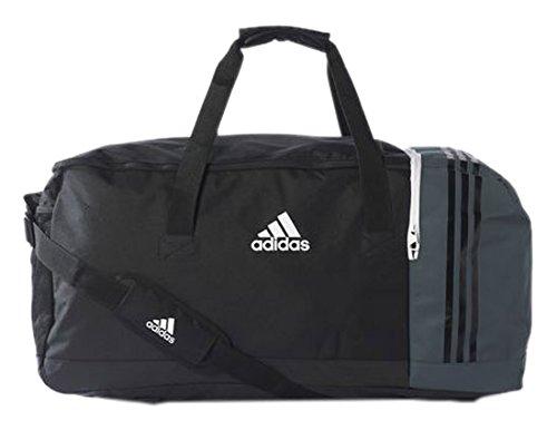 adidas Tiro Teambag M Borsone, 60 cm, 56 liters, Nero (Schwarz/grau)